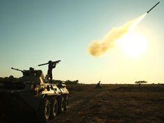"""A soldier fires a portable air defense rocket during the International military games """"Masters of Antiaircraft Battle - 2015"""" outside the Russian southern town of Yeisk. Teams of the Armed Forces of the People's Republic of China, the Islamic Republic of Pakistan, the Bolivarian Republic of Venezuela, the Republic of Belarus and the Russian Federation take part in the military competition.  Sergei Venyavsky,AFP/Getty Images"""