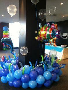 decoraciones con globos de latex y metalizados para fiestas infantiles