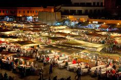 Night food market at the main square in Marrakesh