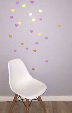 Hearts Removable vinyl wall decals. Interior design • kids rooms • nursery • girls rooms • boys rooms Removable Vinyl Wall Decals, Girl Nursery, Kids Rooms, Girl Room, Boys, Girls, Hearts, Interior Design, Chair