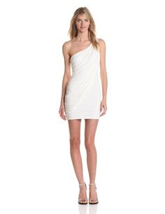 BCBGMAXAZRIA Women's Sima One Shoulder Gown (Sumptuous Finds #Color Series Third Collection: Part 6 - Three Items) #white #dress