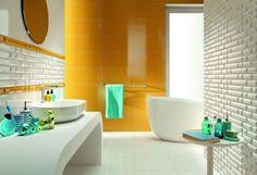 salle de bain colorée - 55 meubles, carrelage et peinture - Salle De Bains Coloree