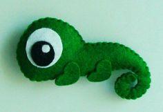 cute felt chameleon
