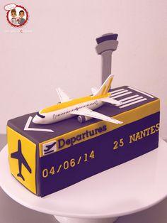 Cake Plane airport - Gâteau thème avion aéroport - Un Jeu d'Enfant Cake Design Nantes France