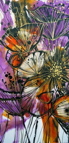 "Saatchi Online Artist: Irina Rumyantseva; Acrylic 2013 Painting ""Floral Explosion"""
