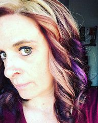 Got the hairs did yesterday...left a little bit of purple in 💜