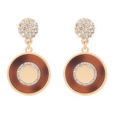 Rhinestone Ball Circle Earrings Golden ($5.98) ❤ liked on Polyvore featuring jewelry, earrings, ball jewelry, rhinestone jewelry, circular earrings, rhinestone earrings and golden earring