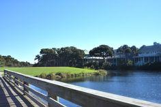 Bridge walk waterway and golf course