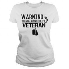 I Love Uncle Protected by a Veteran Shirts & Tees