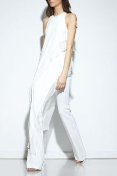 Donna Karan does white on white.