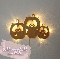 Schlummerlampe Eulen Eule Kinderlampe Lampe M931 von deinewandkunst auf DaWanda.com