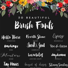30 Beautiful Free Brush Fonts (*Free♥ Pretty ♥Things ♥For ♥You*)