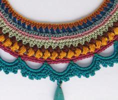 collar de declaración / ganchillo collar Blue por laviniasboutique