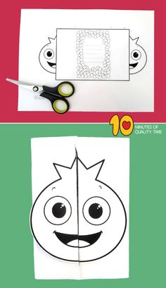 Bee Crafts For Kids, Easy Arts And Crafts, Crafts To Do, Paper Crafts, Teachers Day Card, Fruit Crafts, Fun Activities For Kids, Halloween Cards, Printable Cards