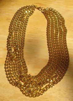 New! Multi Row Gold Necklace! https://www.etsy.com/listing/100348572/multi-row-gold-necklace