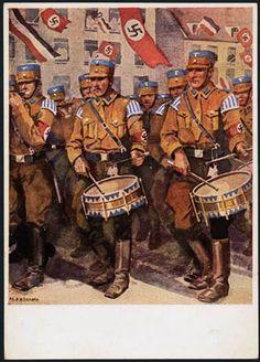 Germany, SA Storm Trooper Propaganda, Brown Shirt Drummers