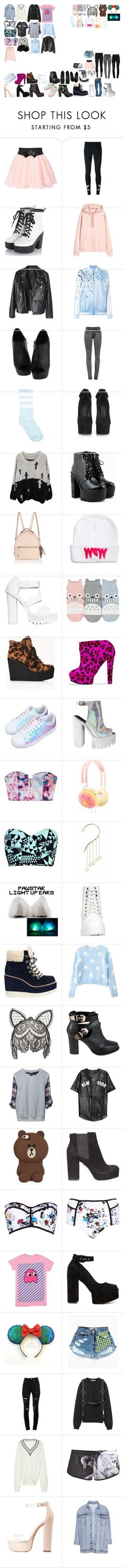 """Packing for Tour"" by kaelighoffical ❤ liked on Polyvore featuring adidas Originals, P.A.R.O.S.H., J Brand, Giuseppe Zanotti, Fendi, Nly Shoes, Forever 21, Senso, Asilio and claire's"