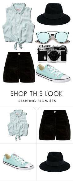 """""""Don't"""" by gabrielle-dixon ❤ liked on Polyvore featuring Abercrombie & Fitch, River Island, Converse, Maison Michel and Nikon"""