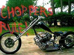Honda Cb750, Honda Motorcycles, Cars And Motorcycles, Custom Choppers, Custom Motorcycles, Custom Bikes, Chopper Motorcycle, Bobber Chopper, Old School Chopper