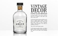 Ebook || A Vintage Home: 101 Home Design Ideas and Tips - Glass Bottles