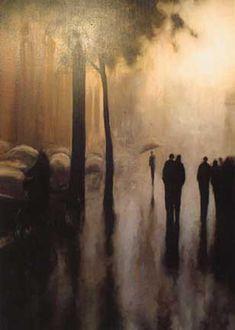 Rain  Geoffrey Johnson  Represented at the Hubert Gallery