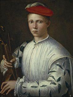 Anónimo. El tañedor de viola. Hacia1540. Museo del Prado. Madrid.