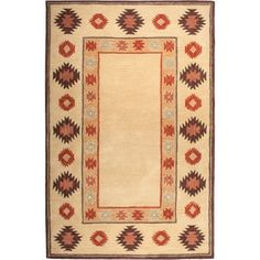 The Conestoga Trading Co. Hand-Tufted Beige Area Rug Rug Size: Round 8'