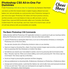 Photoshop CS5 cheat-sheet. This website is full of cheat-sheets!