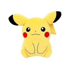 Pikachu Mochi Mochi Cushion ❤ liked on Polyvore featuring home, home decor and throw pillows