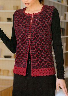 Discover thousands of images about motifli-örme-bayan-yelek-modeli. Crochet Coat, Form Crochet, Crochet Jacket, Crochet Cardigan, Crochet Clothes, Modern Crochet Patterns, Knitting Patterns, Casual Hijab Outfit, Crochet Girls