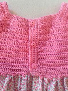 Ravelry: Project Gallery for G Diy Crochet Cardigan, Crochet Yoke, Crochet Stars, Crochet Fabric, Crochet Girls, Crochet Baby Clothes, Crochet Granny, Crochet For Kids, Easy Crochet