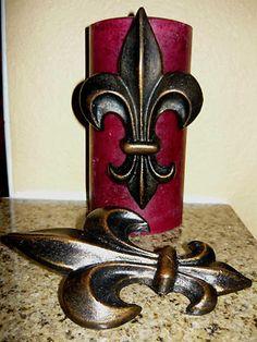 Set of 2 Fleur de Lis Candle Pins / Tacks    by fleurdelisjunkie, $39.50