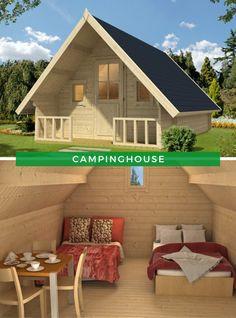 Camping Ideen: Das klassische Campinghouse der Marke Alpholz eignet sich hervorragend für Ferien im Grünen und bietet ausreichend Platz zum Schlafen und Wohnen. Machen Sie gerne Urlaub im Grünen? #Ferienhaus #Campinghaus #Inspiration #Garten Aluminium, Cottage, Outdoor Decor, Minimal, Ideas, Camping, Inspiration, Home Decor, Hobbit Houses