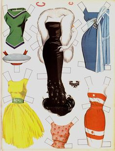 Vintage Connie Francis Paper Doll - paper dolls, 1950's 1960's fashion, celebrity