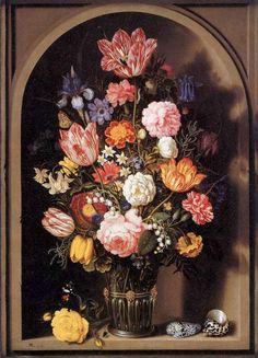 Ambrosius Bosschaert the Elder (1573-1621) –– Flower Piece, 1618  (736x1022)