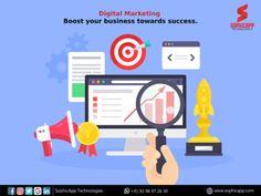 Digital Marketing Boost your Business towards Success. for more Information WhatsApp us @ +91 93 98 97 26 30 www.sophicapp.com #digitalmarketingcompany #bestdigitalmarketingagency #BesDigitalMarketingAgencyinhyderabad #DigitalMarketingCompanyHyderabad #digitalmarketingservices #topdigitalmarketingservices #BestDigitalMarketingServicesinHyderabad Digital Marketing Strategy, Digital Marketing Services, Marketing Plan, Content Marketing, Internet Marketing, Social Media Marketing, Online Marketing, Web Application, App Development