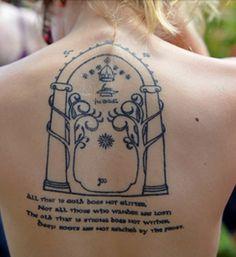 Tolkien tattoo, it's beautiful. <3