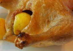 Stupid Simple Roast Chicken - I will cook this at least once a month. Perfect Roast Chicken, Easy Roast Chicken, Roast Chicken Recipes, Chicken Meals, Turkey Recipes, Entree Recipes, Gourmet Recipes, 3 Ingredient Chicken, Lemon Roasted Chicken