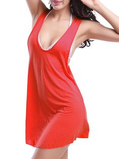 fdff06a0c1 11 colors available Solid color Sexy Women swimsuit cover up Loose beach  dress Women Summer Bikini Cover Ups