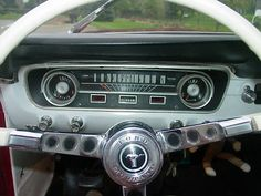 1964 1 2 mustang interior | 1964 1/2 Ford Mustang Convertible Candy Apple Red white interior 2.8L ...