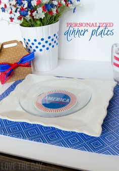 Personalized Dinner Plates and Some Exciting News!!