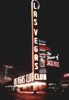 The Las Vegas Club sign, designed by Hermon Boernge