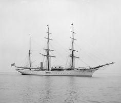 Harrison T. Drummond's steam yacht White Heather seen in 1901.