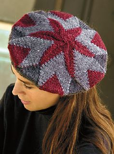 Shown in adult tam and child's helmet. A nice modular design: great for using up the stash.