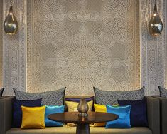Fronting the Atlantic Ocean, the new intimately scaled Four Seasons Casablanca offers a resort style hotel, blending textured sand-coloured contemporary […] Restaurant Lighting, Restaurant Bar, Oriental Hotel, Moroccan Design, Light Architecture, London Hotels, Four Seasons Hotel, Resort Style