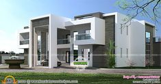 Flat roof Arabian house plan