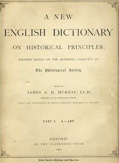 This Day in History:  Feb 1, 1884: Oxford Dictionary debuts http://dingeengoete.blogspot.com/ http://4.bp.blogspot.com/_FN98eHvI0Yg/TUbm23YMZQI/AAAAAAAAB08/K4PDBmW-P8Y/s1600/oed.jpg