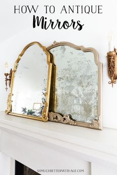 The Ultimate Guide On Diy Antique Mirrors Video So Much Better With Age Love Vintage And Thrifted Mirrors? In This Diy Tutorial, I'm Sharing The Step By Step Details To Transforming A Beautiful Glass Mirror Into An Amazing Home Decor Centerpiece. Anthropologie Mirror, Mirror Video, French Mirror, Centerpiece Decorations, French Country Decorating, Vintage Decor, Videos, Diy Home Decor, Diy Mirror Decor