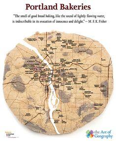 Portland Bakery Map