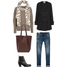 fall classic coffee shop outfit